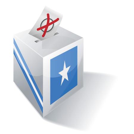 Ballot box Somalia Illustration