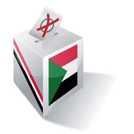 Ballot box Sudan Illustration
