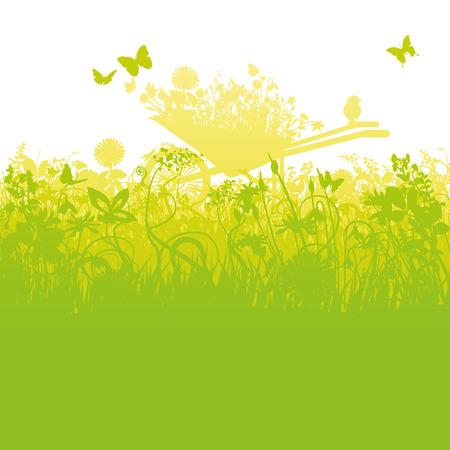 alegria: Carretilla en el jardín cultiva