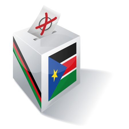 voting rights: Ballot box South Sudan