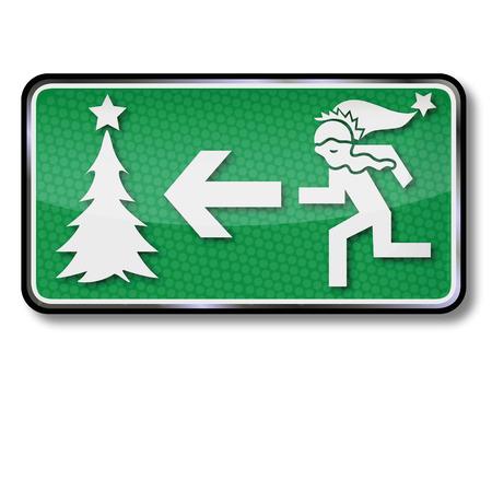 unpacking: Santa Claus runs to a christmas tree