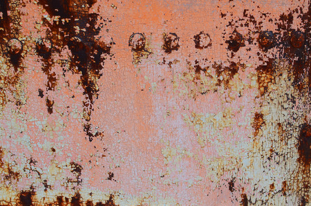 gray matter: Rusty iron plate with rivets