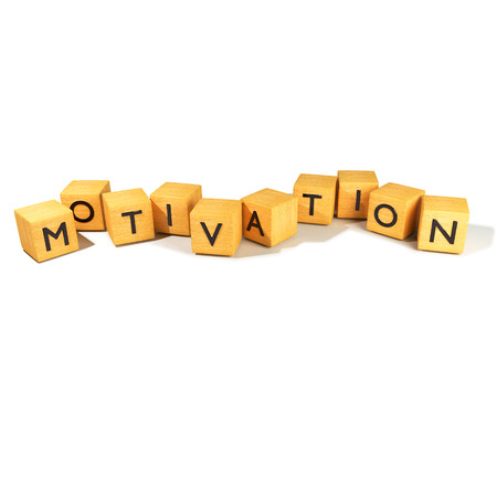 motivations: Dice with motivation Stock Photo