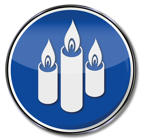nonviolent: Shield with three candles