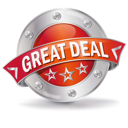 great deal: Button great deal Illustration