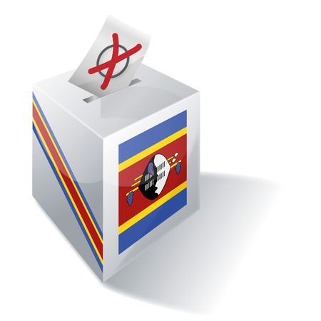 voting rights: Ballot box Swaziland