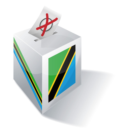 voting rights: Ballot box of Tanzania Illustration