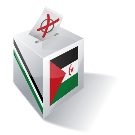 voting rights: Ballot box Western Sahara