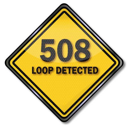 no correr: El icono del ordenador 508 Loop Detectado Vectores