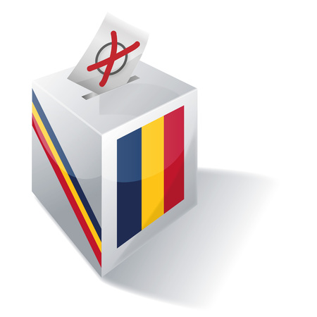 voting rights: Ballot box Chad
