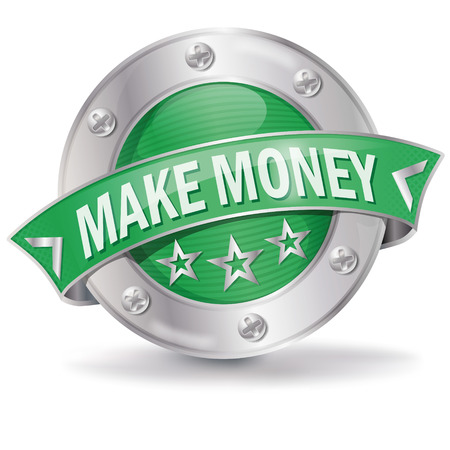 extra money: Button make money Illustration