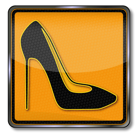 women's shoes: Heeled shoes or womens shoes Illustration