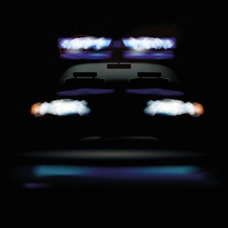 penumbra: Police car at night and warning light