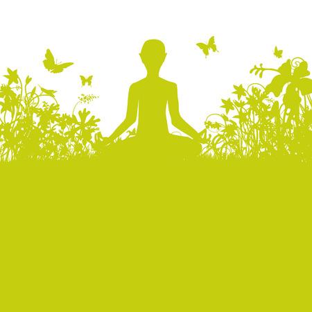 meditating: Meditating in the garden