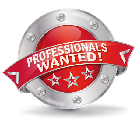 Button professionals wanted Illustration