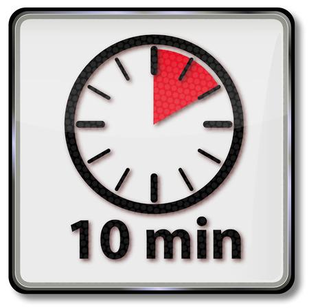 Reloj con 10 minutos