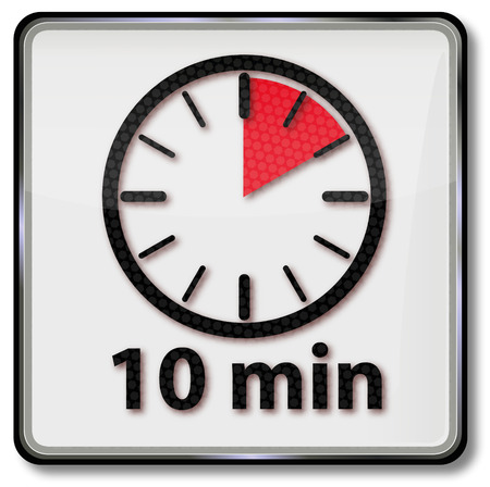 Uhr mit 10 Minuten