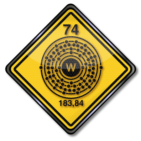 Chemistry and chem shield sign Wolfram