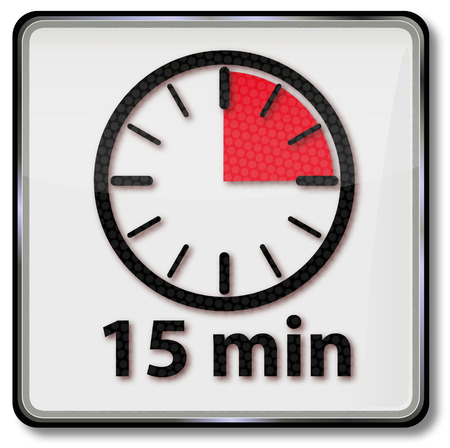 minutes: Clock with fifteen minutes