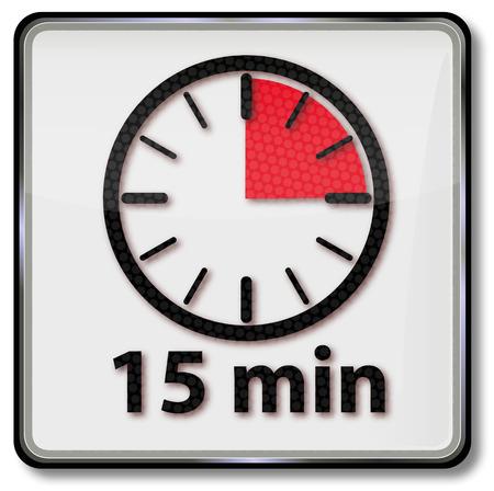 fifteen: Clock with fifteen minutes