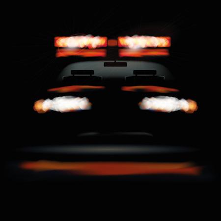 uprzejmości: Ambulance car at the night
