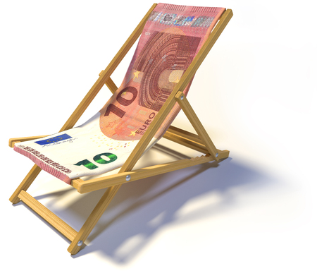 severance: Folding deckchair with ten Euro