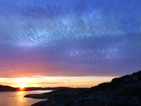 romantics: Sunset in the bay