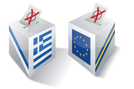 greek islands: Selection box with Europe and Greece Illustration