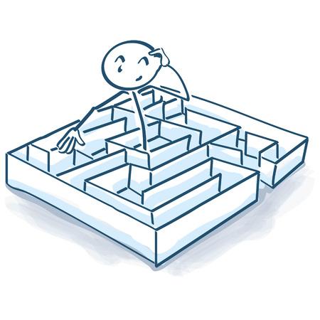 Stick figura labirinto e del labirinto