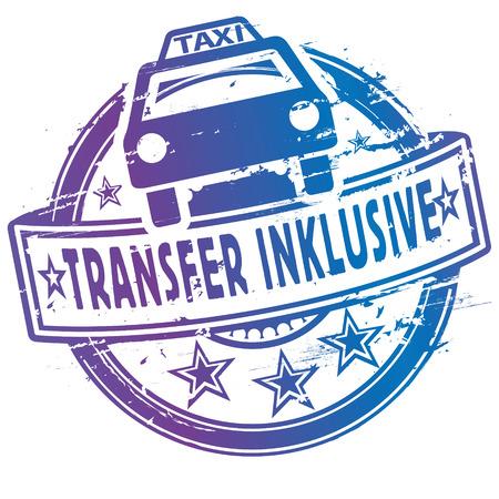 Stempel mit dem Taxi und Shuttle inklusive