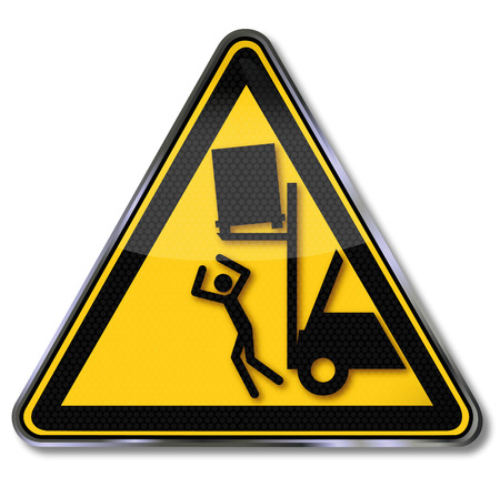 accident: Beware of objects falling from forklifts