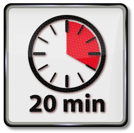 short break: Clock with 20 minutes