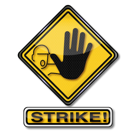 on strike: Shield walkout and strike