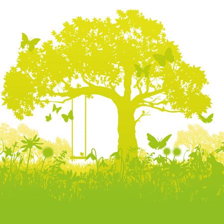 enchanted: Swing tree in the enchanted garden
