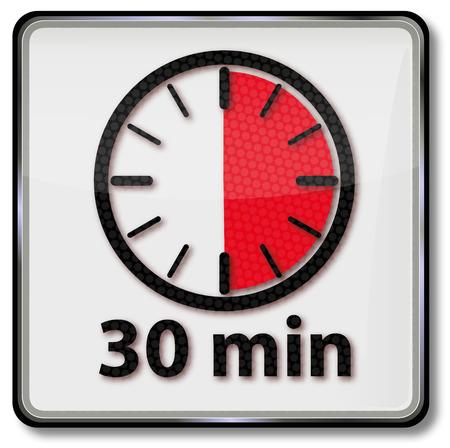 Klok met 30 minuten