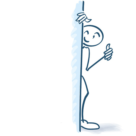 uphold: Stick figure behind a wall