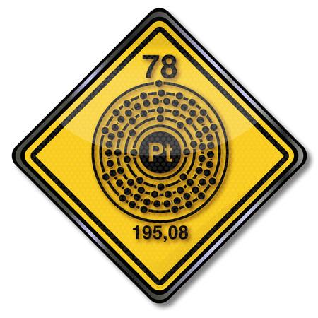 platinum: Sign chemistry character platinum