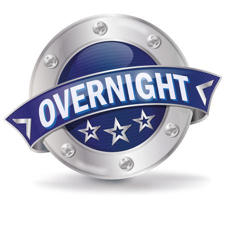 overnight: overnight shipping Illustration