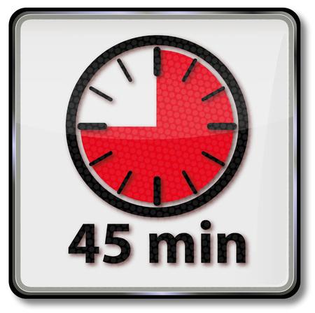 short break: Clock with 45 minutes