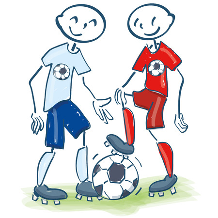 popular tales: Stick figures as soccer friends