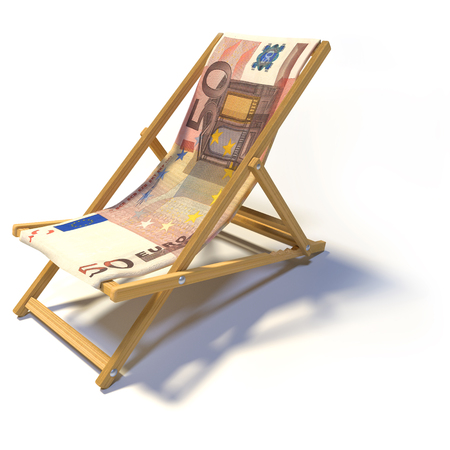 50: Folding deckchair with 50 Euro