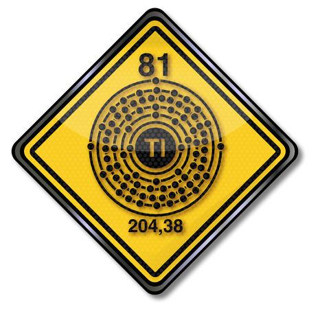 化学の盾と化学文字タリウム 写真素材 - 59803308