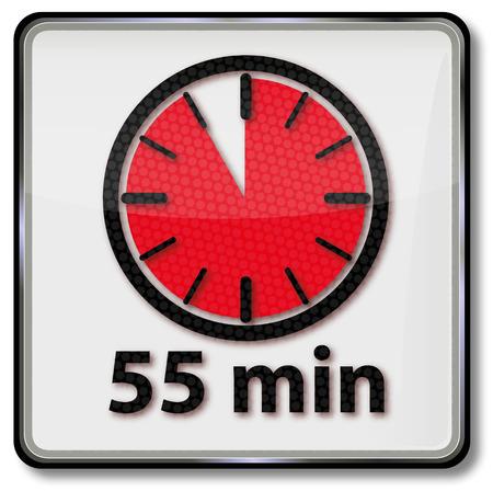 short break: Clock with 55 minutes