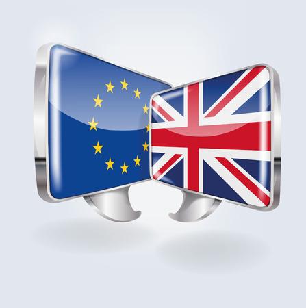 Bolle con l'Europa e l'Inghilterra e la comunicazione