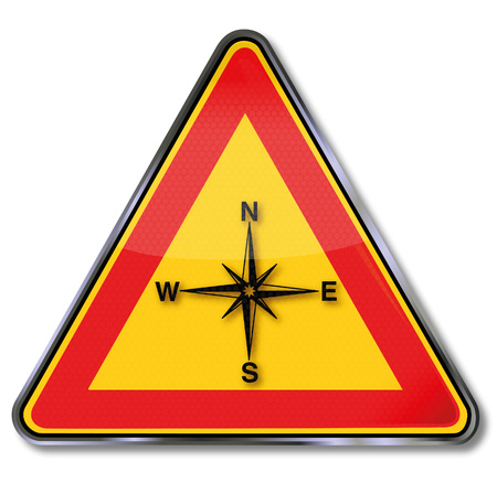 disorientation: Shield compass, compass rose and orientation