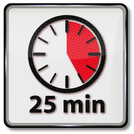 Clock with 25 minutes