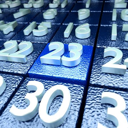 20 23 years: Twenty-third calendar day