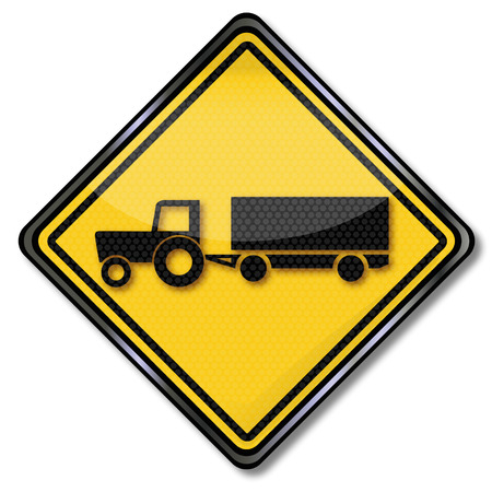 tractor warning: Plate straightener, trailers with crop traffic