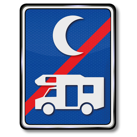 caravans: No parking for campers on the night