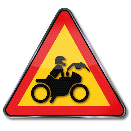 Please do no refuel the motorcycle with a running hot engine Illustration